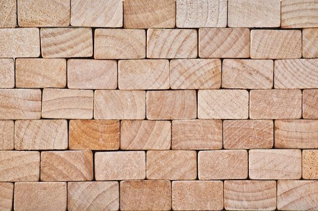 Шаблон из легкой деревянной кирпичной кладки. концепция стены. абстрактный дизайн фона.