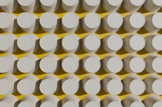 黄色の紙コップのパターン