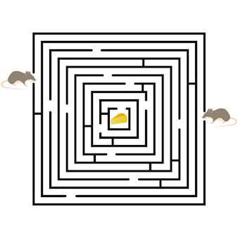 Pattern of round design elements labyrinth on background