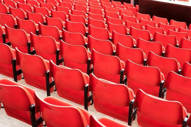 Pattern of seats at the sport stadium