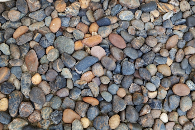 Pattern of small stones wall for background and design