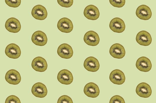 Pattern of tasty kiwi fruit pieces