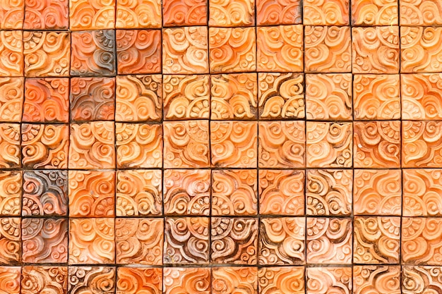 Pattern of temple wall