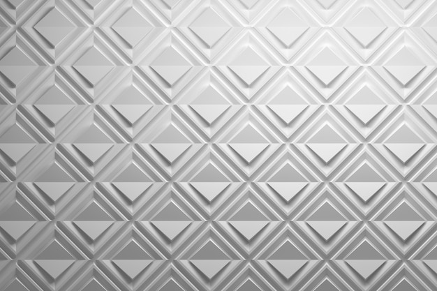 Pattern with paper effect made of squares and folded rhombuses