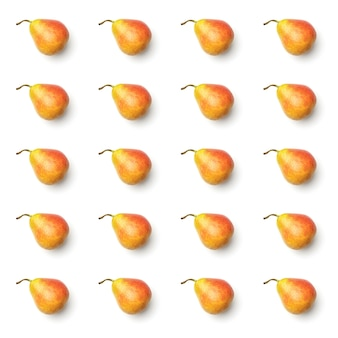 Pattern with pear on the white