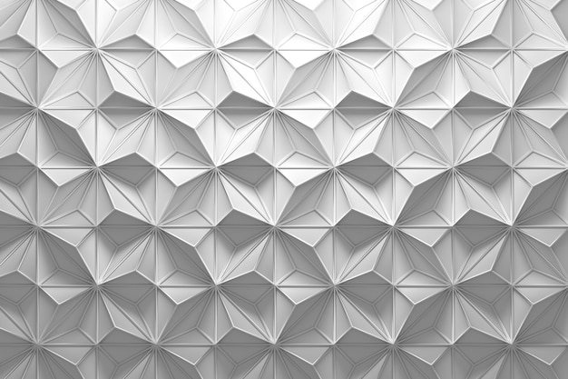 Pattern with random pyramids and wireframe
