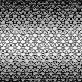 Pattern with repeating circles in gray.