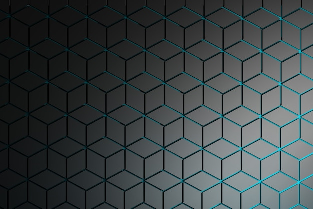Pattern with rhombuses and hexagons in dark gray .