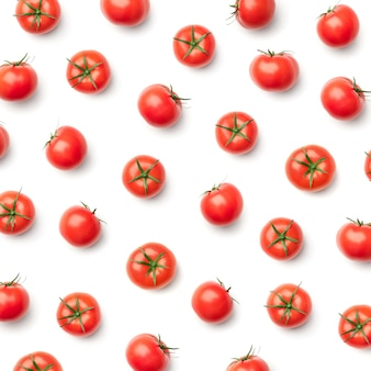 Pattern with tomato. abstract background. tomatoes on the white background