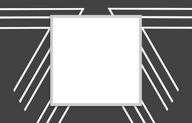 灰色の背景に白い四角のパターン