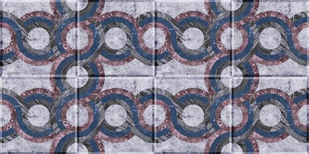 Узорчатая цветная плитка из натурального мрамора. каменная текстура