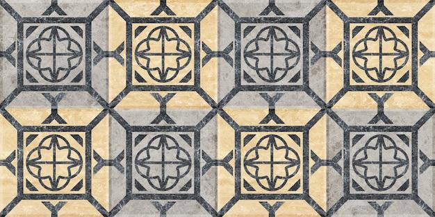 Плитка из натурального мрамора с рисунком. бесшовные текстуры фона