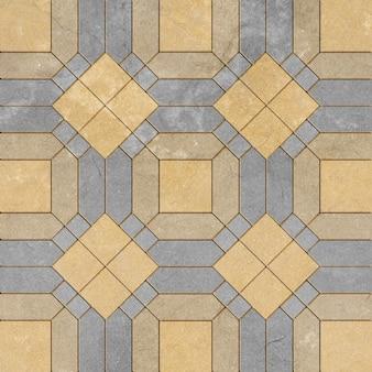 Patterns on the brick walkway