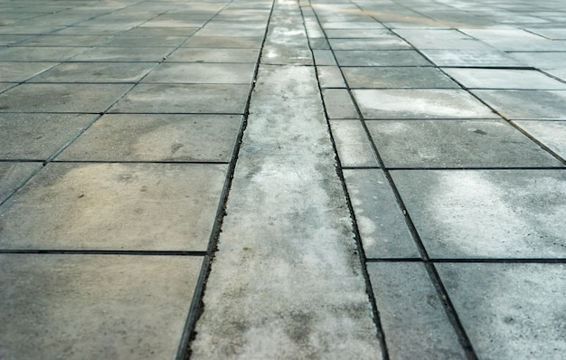 Patterns on a tile floor or walkway