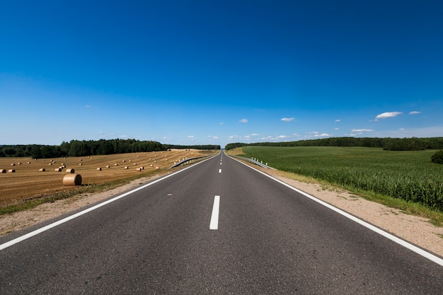 舗装された良い道