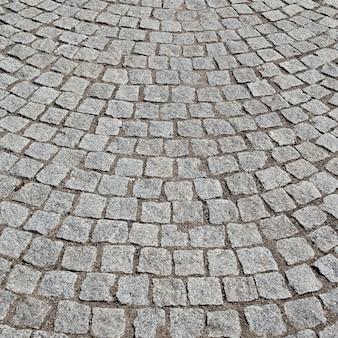 Брусчатка на старой дороге во франции