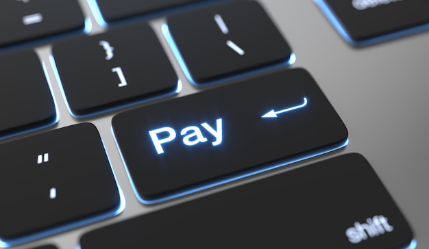 キーボードボタンでテキストを支払います。