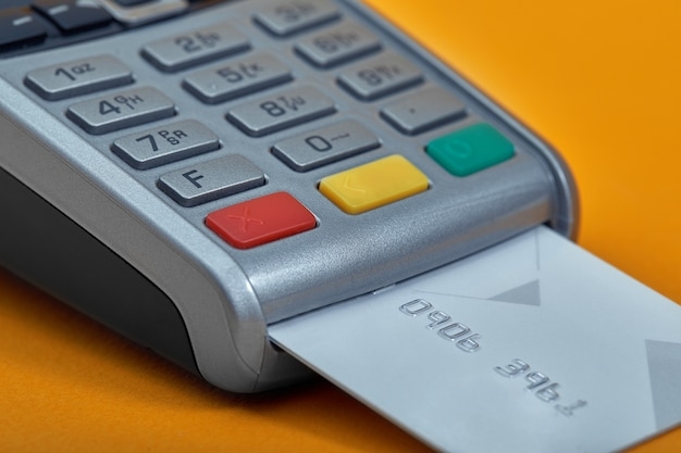 Payment by credit card terminal