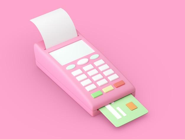 Payment terminal pos terminal and credit card
