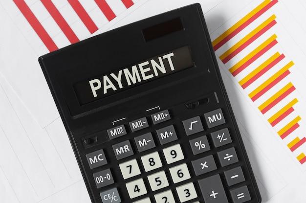 Платежное слово, надпись. финансовая концепция бизнеса, напоминание