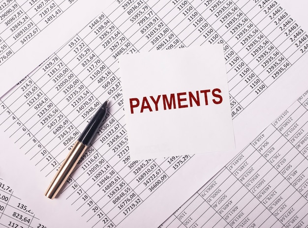 Payment word, inscription. business financial concept, reminder