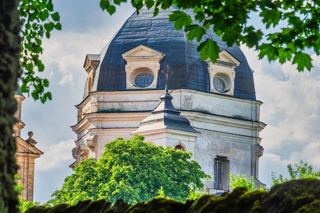 Pazaislis abbey, beautiful ensembles of baroque style in lithuania.