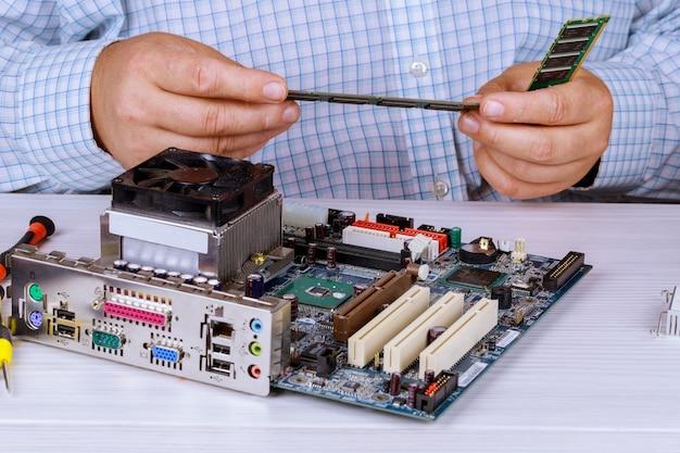 ランダムアクセスメモリをpcに取り付ける