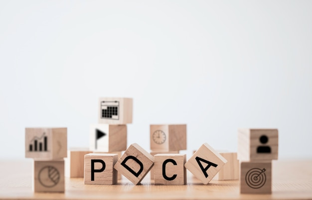 Pdcaまたはパンは、品質サイクルの継続的な改善のためにアクションをチェックします。カイゼンのコンセプト。