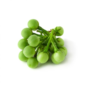 Pea eggplants or turkey berry isolated over white background