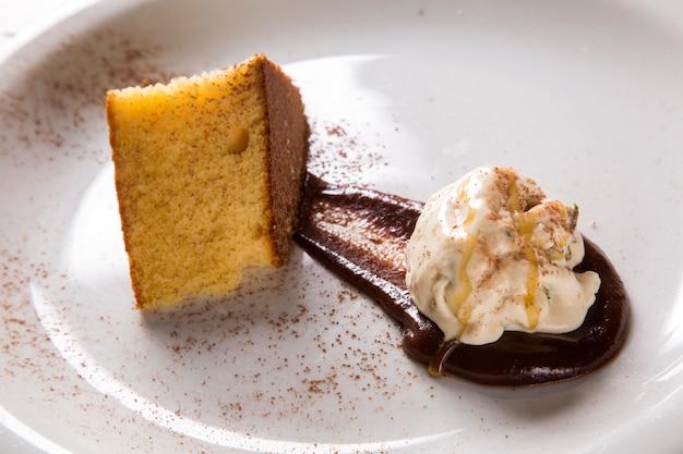 옥수수 케이크와 완두콩 아이스크림