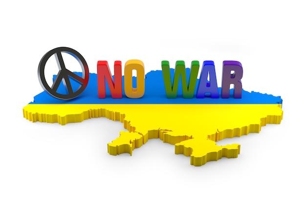 Концепция мира сейчас для украины и россии. 3d рендеринг