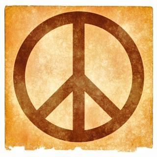 Peace grunge sign  love