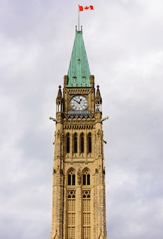 Peace tower in sunny day in ottawa