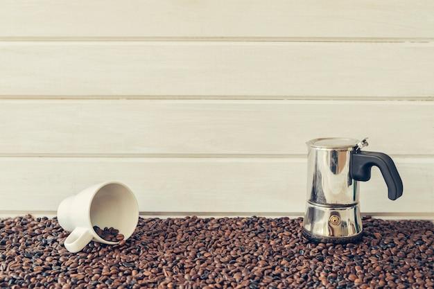 평화로운 커피 개념