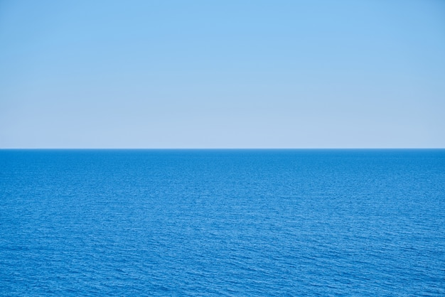 Peaceful sea and blue sky