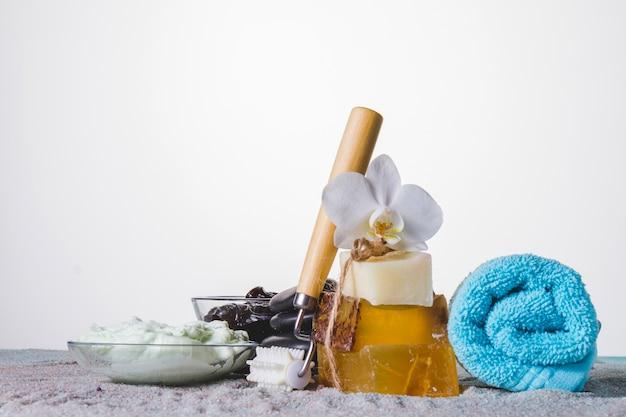 Peaceful spa elements