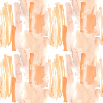 背景として水彩で描かれた桃とオレンジのブラシストローク
