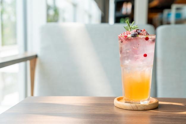 Peach and berry soda glass