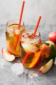 Peach ice tea