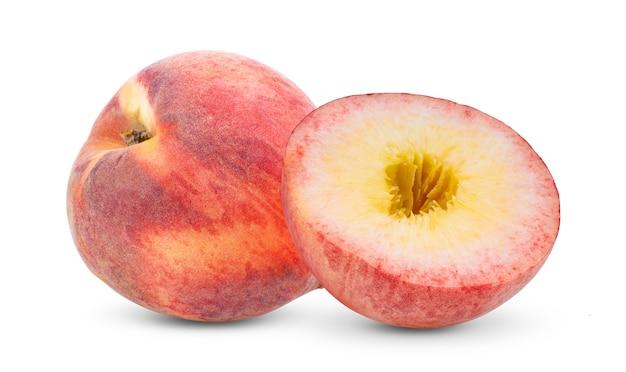 白い背景で隔離の桃