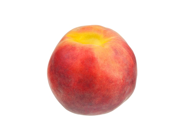 Peach isolated on white surface