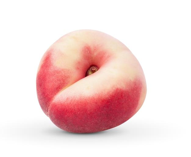白い壁に桃