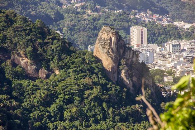 Peak agulhinha the inhanga, located in copacabana in rio de janeiro brazil.