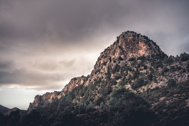 Peak at kyrenia mountain range