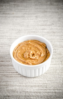 Peanut butter in a bowl