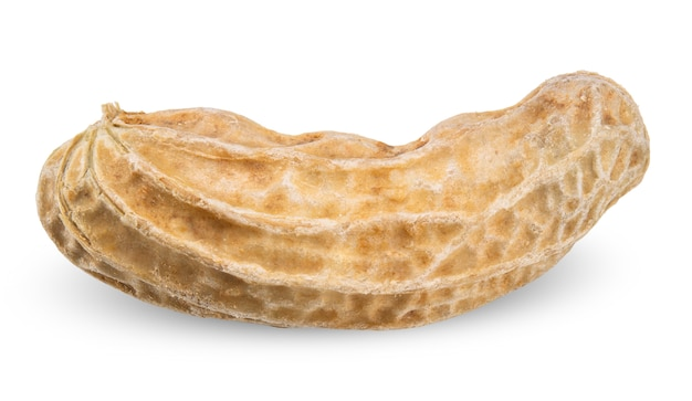 白いクリッピングパスで分離されたピーナッツ