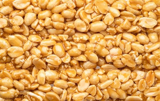 Peanut kozinaki texture background