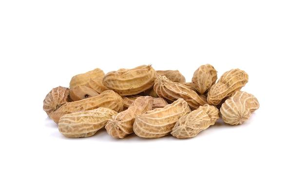 Арахис, арахис на белом