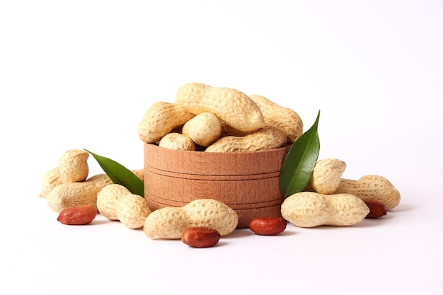 Peanuts on a light background close-up. high quality photo
