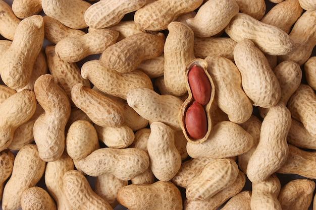 Peanuts on a light background closeup nuts
